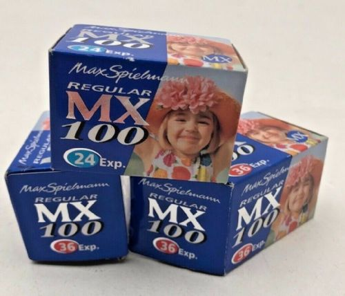 Max Spielman 35mm out of date colour neg films 100iso dated 2005. 2 are 36 expos